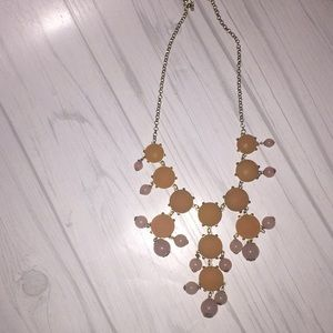 Peach and Pink necklace.